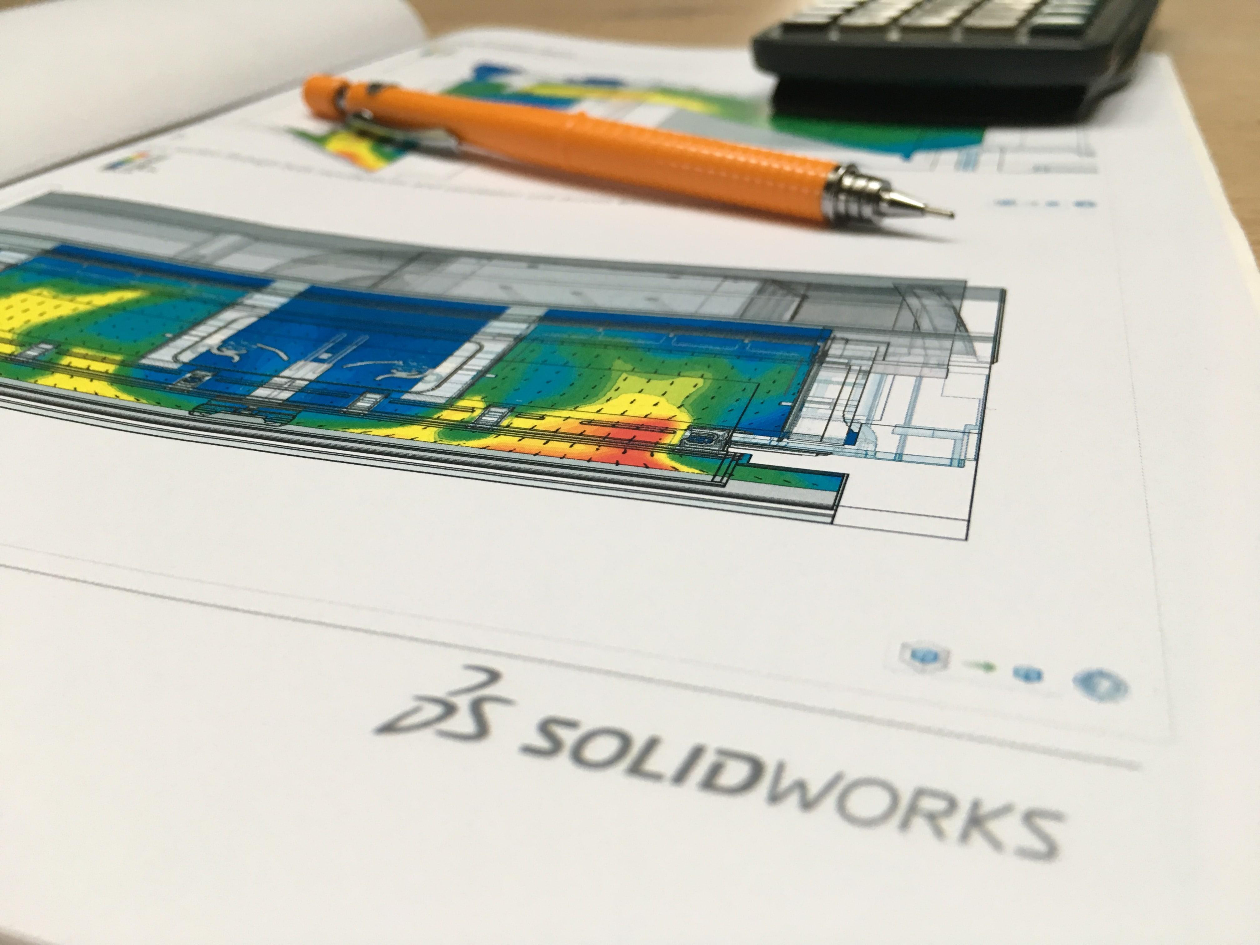 SolidWorks Flowsimulation - eksempel på rapport udarbejdet i programmet